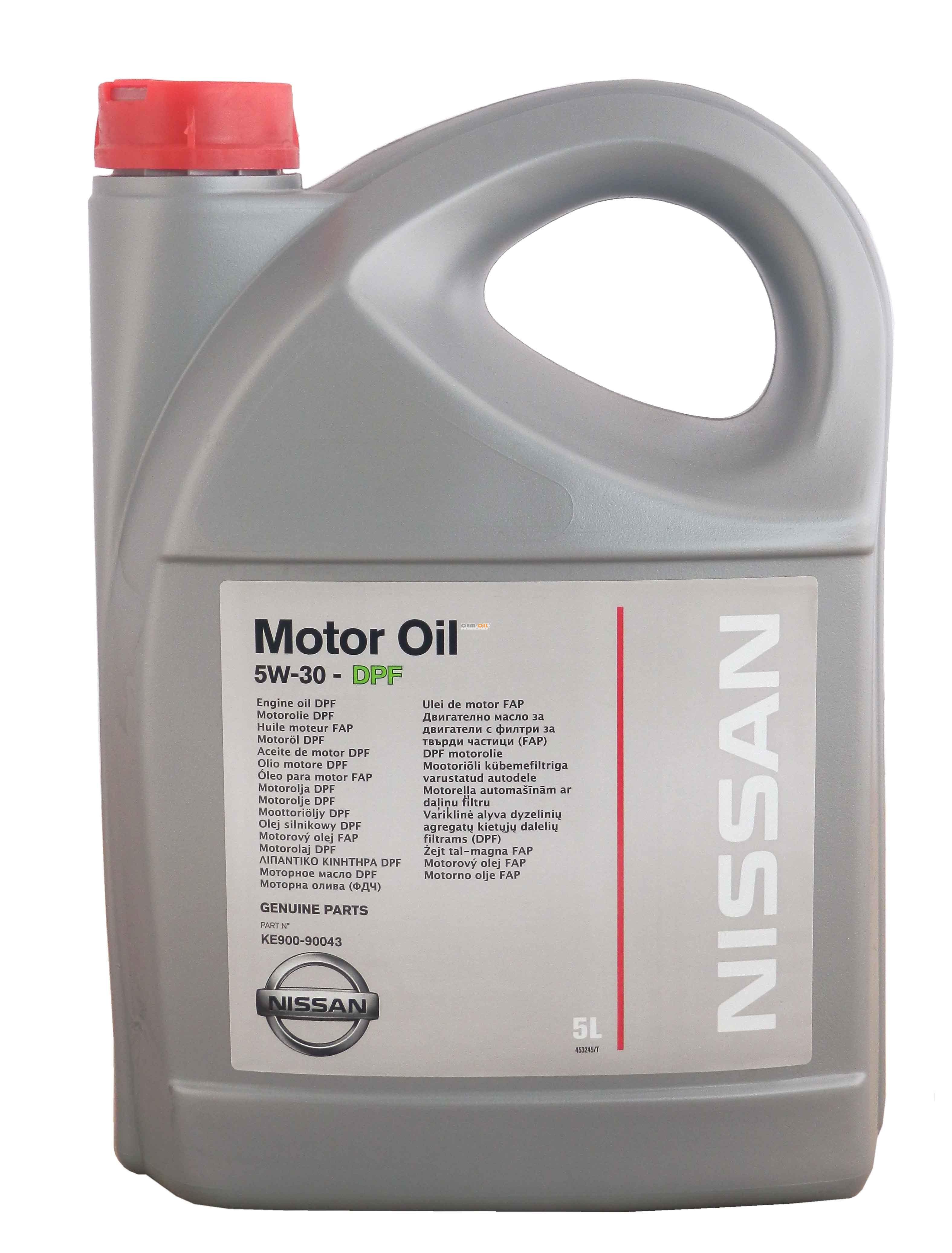 моторное масло nissan 5w30